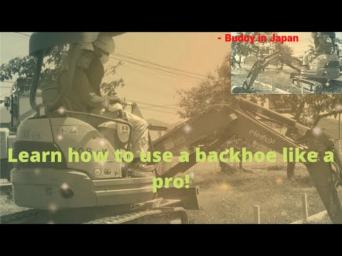Learn How To Use A Backhoe Like A Pro Plus Shoutout To All My Vip S Budoy In Japan Youtube