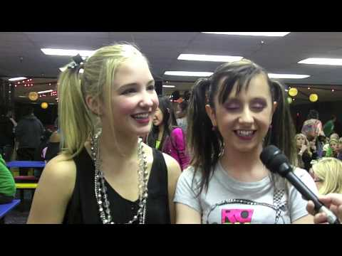 AUDREY WHITBY and ALLISYN ARM Meet JUSTIN BIEBER!