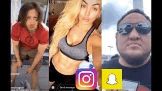 WWE Snapchat/Instagram ft. Daniel Bryan, Mandy Rose, Samoa Joe, The Iconics, Rusev, Sheamus n MORE
