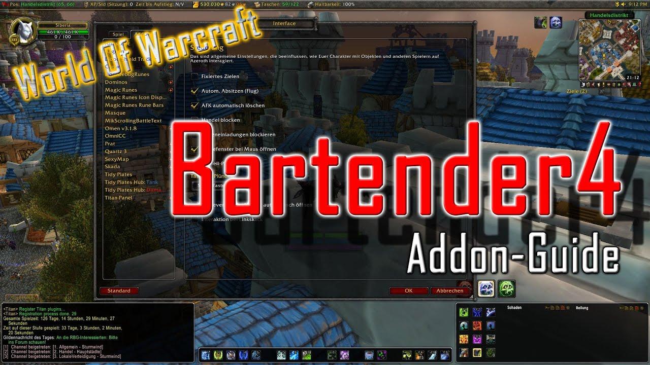 WoW Addon: Bartender4 - YouTube  WoW Addon: Bart...