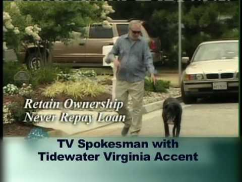 TV spokesman with Tidewater accent