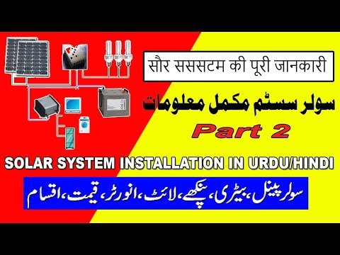 solar system installation in urdu hindi video 2 (Weather Problem)
