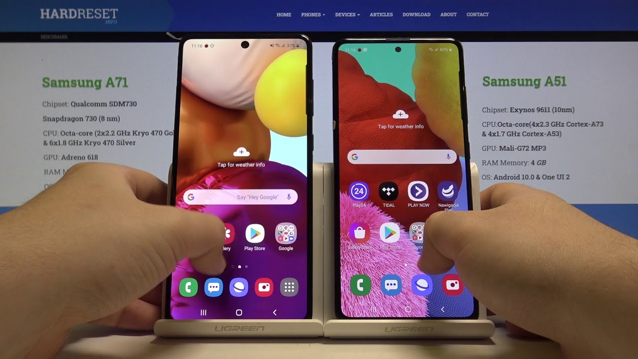Speed Test Samsung Galaxy A71 A51 Performance Checkup Youtube