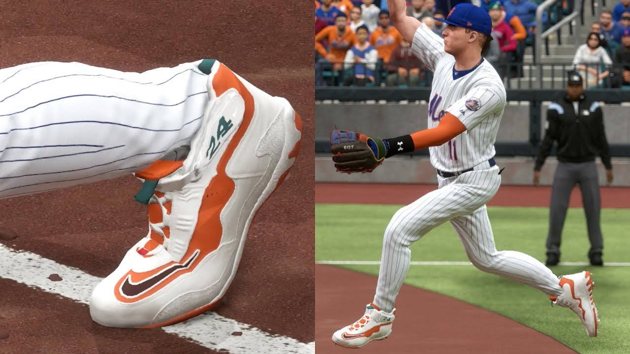 3b4fcea782 NEW CUSTOM METS COLORS KEN GRIFFEY JR SHOES! MLB THE SHOW 17 - YouTube