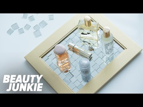 DIY Mirrored Vanity Tray | Beauty Junkie