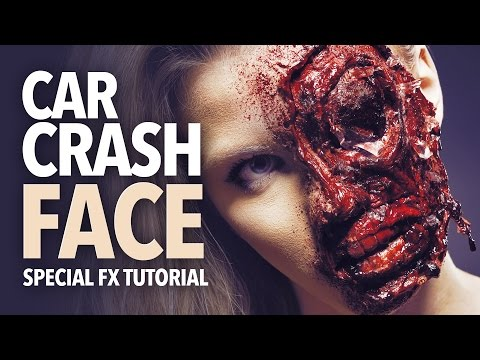 Car crash face special fx makeup tutorial thumbnail