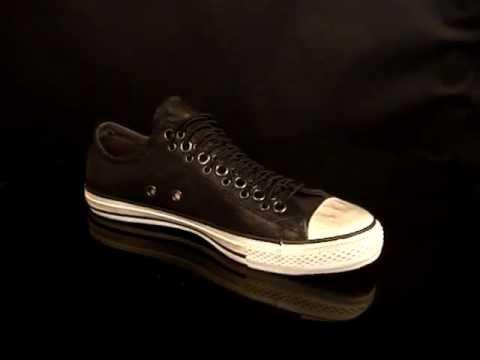 9d91372c716be5 Converse-John-Varvatos-Allstar-Multi-Eyes-OX-Leather-Black.mpg - YouTube