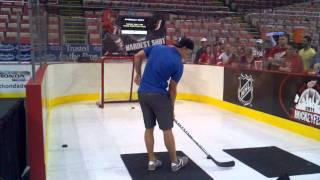 Jan Mursak Detroit Red Wings playing fastest slap shot game