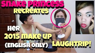 SNAKE PRINCESS RECREATES her 2015 MAKE UP! (English only!) special guest JASPER AMORIN laughtrip!