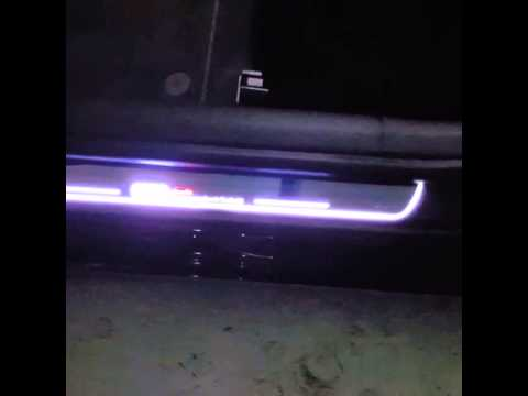 Audi Led Door Sill Plates Youtube