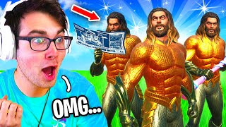 I Hosted a AQUAMAN SKIN ONLY Tournament for $100 in Fortnite... (cheaters caught)
