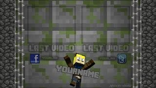 Free outro template freedesinz for Minecraft outro template movie maker