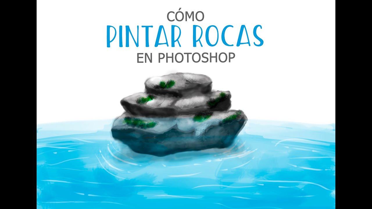 Cómo pintar rocas con Photoshop - YouTube