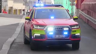 Brandnew Q7 e-tron Chief Car Oslo FD responding