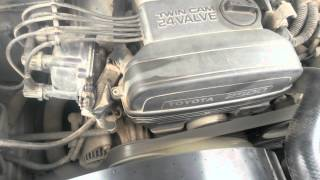 Монетка на работающем двигателе Toyota Cresta. 1JZ-GE