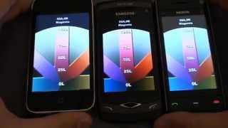 Samsung S8500 Wave vs. Nokia X6 vs. iPhone 3GS - Direct Sun Test - luinHD