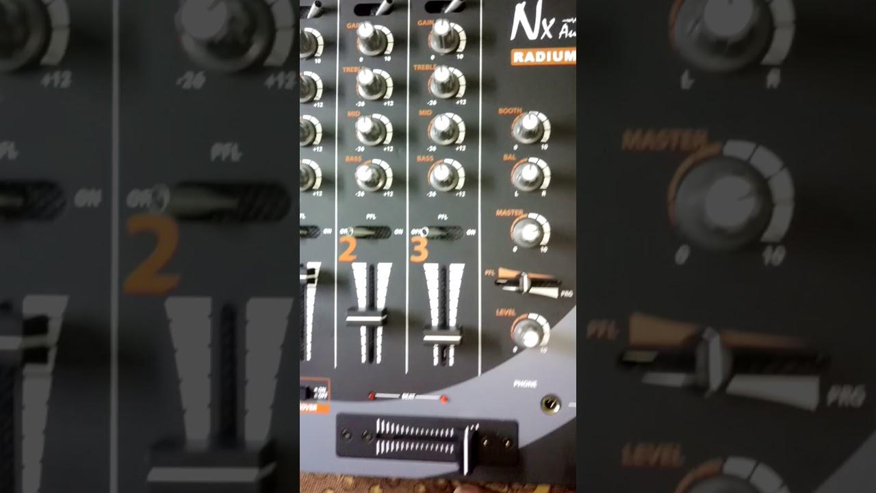 Nx Audio Radium 3 Channel Dj Mixer Unboxing Youtube