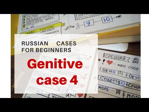 Learn Russian cases Genitive Bullet journals for Russian study