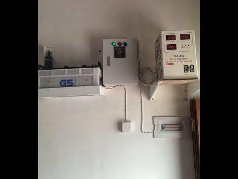 Cara Pasang Panel Otomatis Inverter - PLN + Charger FuLL Otomatis