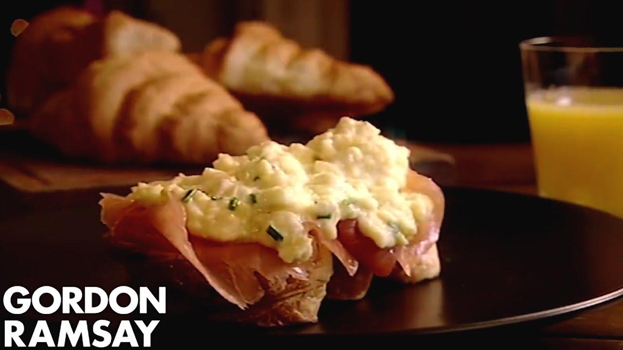 Scrambled Eggs & Smoked Salmon On Toasted Croissants | Gordon Ramsay