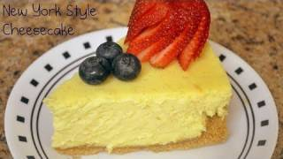 New York Style Cheesecake Recipe - July 4th Special! - CookingWithAlia - Episode 143