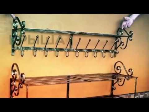 этажерки кованые фото