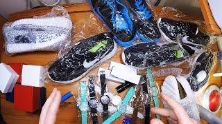 ШОК! Огромная распаковка с Алиэкспресс за 180$ Adidas Yeezy Nike Roshe Run Geneva Ultrafire