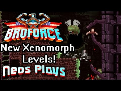 Aliens Vs Freedom! (New Levels!) Broforce   Neos Plays