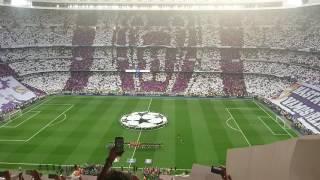 Himno Champions + Tifo.  Semifinal 2017 Real Madrid-Atlético.