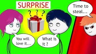 When a Gamer's Girlfriend gives him a Surprise