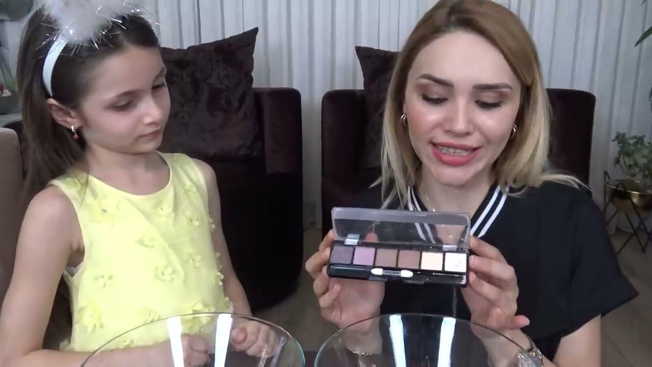 MAKYAJ MALZEMELERİYLE SLİME | Make Up Slime