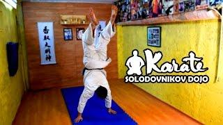 Как научиться ходить на руках акробатика гимнастика киокусинкай / How to learn to walk on his hands