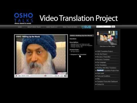 OSHO TALKS: Video Translation Project