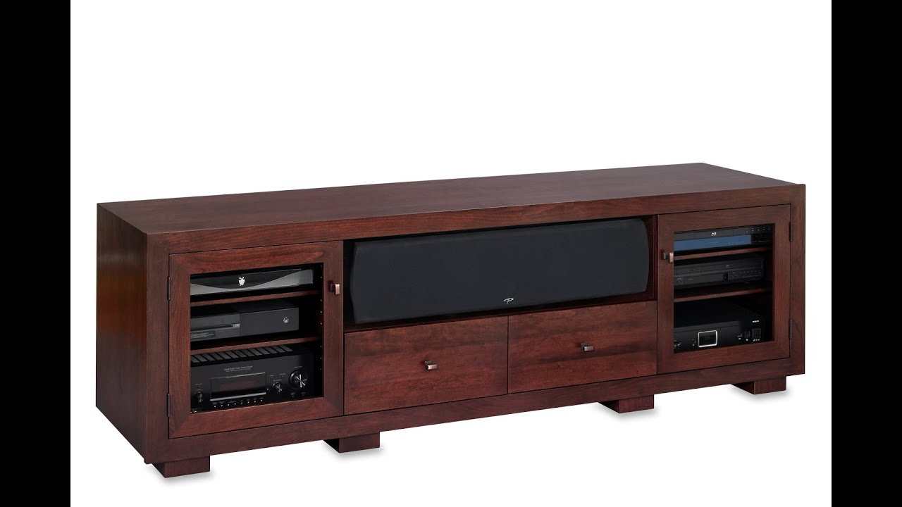 Haven EX 82 Inch Solid Wood Media Console By Standout Designs   A Virtual  Tour