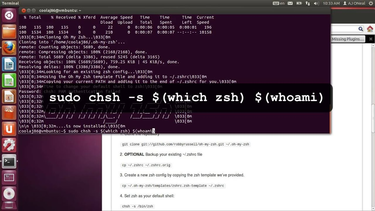 Getting Started with ZSH (and oh my zshell) on Ubuntu