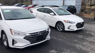 2019 And 2018 Elantra Side By Side