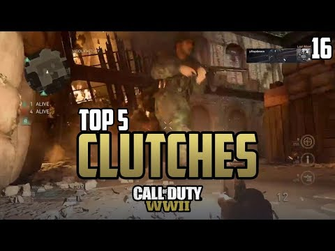 COD WWII: TOP 5 CLUTCHES OF THE WEEK #16 - Call of Duty World War 2 thumbnail