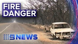 SA Bushfires: Kangaroo Island fire threat reduced | Nine News Australia