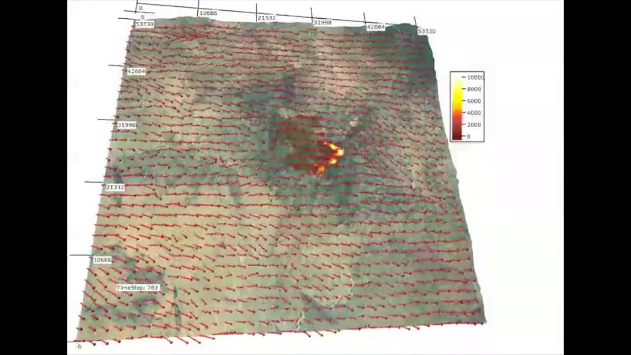 Yarnell Hill Fire Scientific Visualization Youtube