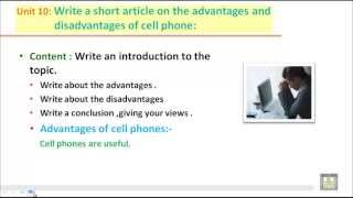 WRITING B2 - U10 - Write a short artical on the advantages and disadvantages of cell phone