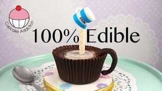 Chocolate TeaCup Cake Pop with Edible Cup, Saucer & Gravity Defying Milk Jug! By Cupcake Addiction