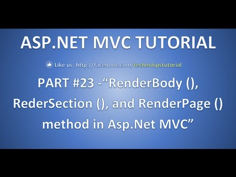 RenderBody , RenderSection And RenderPage Method In ASP.NET MVC- Part- 23
