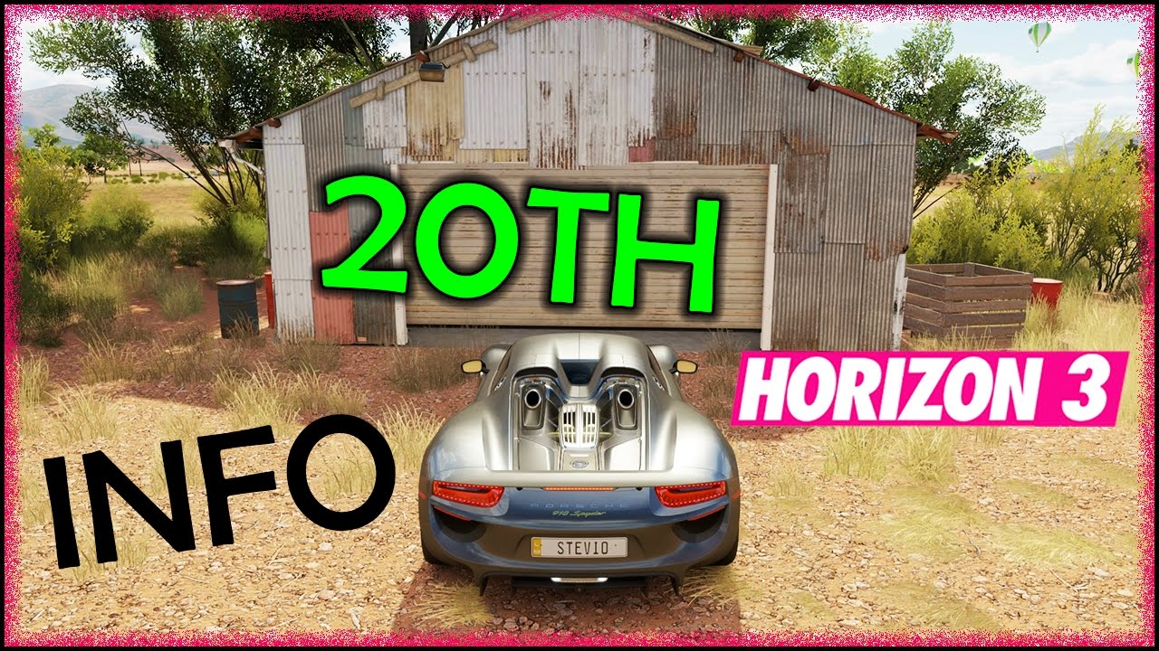 how to open barns forza horizon 3