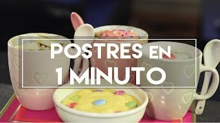 Postres en 1 MINUTO! - DIY | What The Chic thumbnail