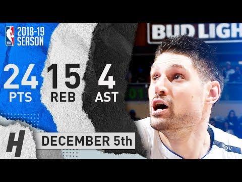 Nikola Vucevic Full Highlights Magic vs Nuggets 2018.12.05 - 24 Pts, 4 Ast, 15 Rebounds!