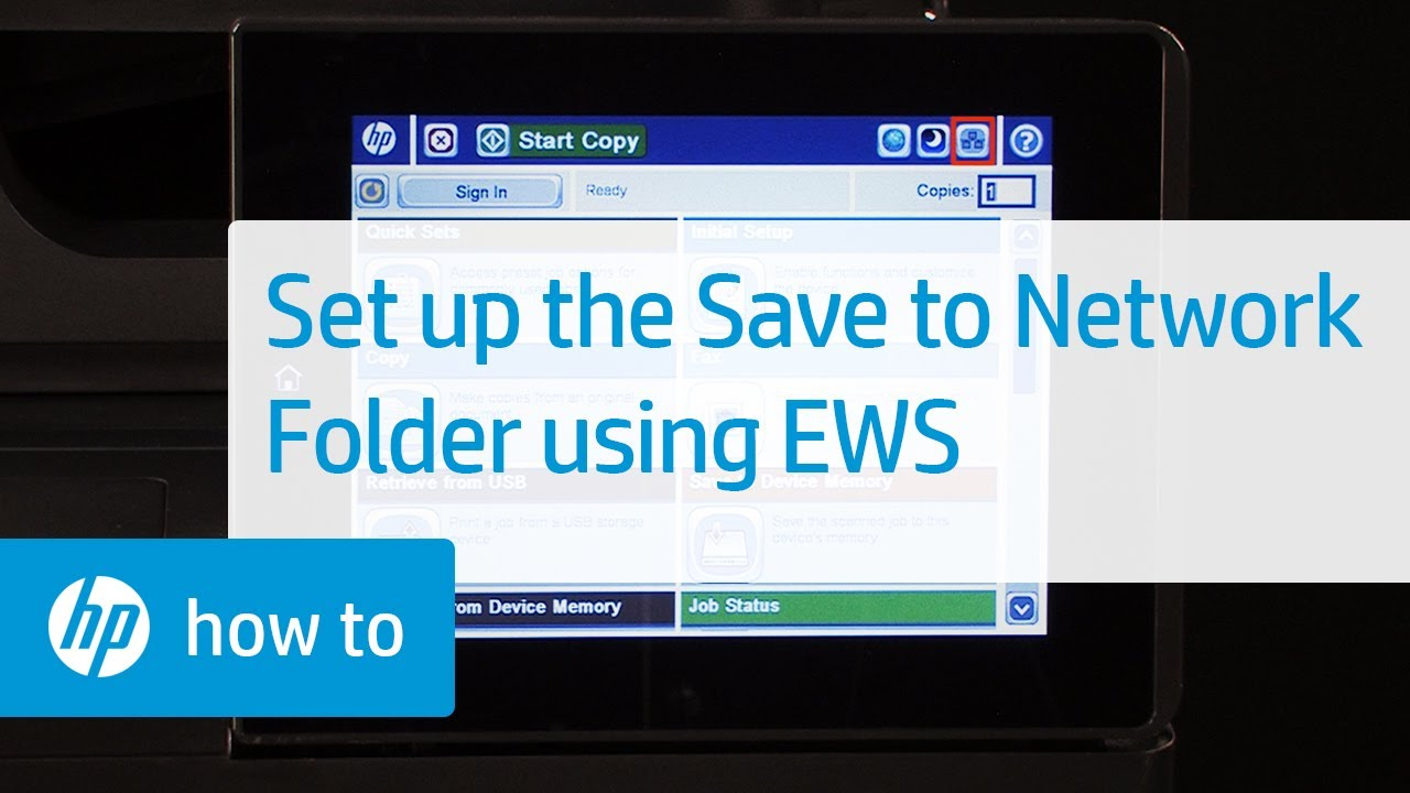 Set up Save to Network Folder Using the HP Embedded Web Server   HP  Printers   HP