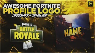 [GRATUIT!!] Logo de profil Fortnite/Avatar Template #2 ' Speedart ' Photoshop