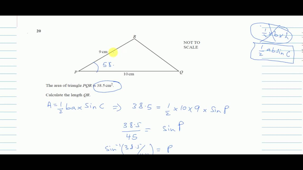 QUESTION 20┇ IGCSE MATHS 0580 ┇ PAPER 2 / 3 ┇MAY JUNE 2015