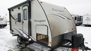 HaylettRV.com - 2016 Passport Ultralite 151ML Murphy Bed Mini Camper Travel Trailer