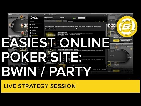 Easiest Online Poker site: Bwin / Party